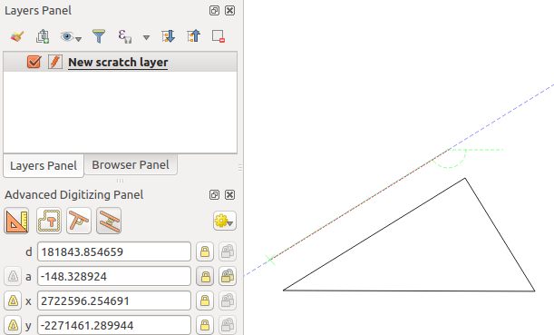 how to draw tow parallel lines in qgis