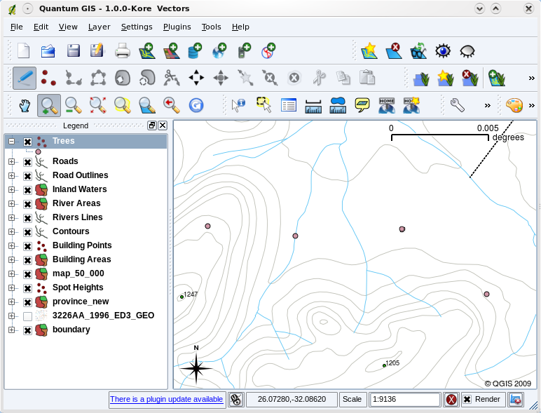 Drawing Lines Qgis : Datos vectoriales