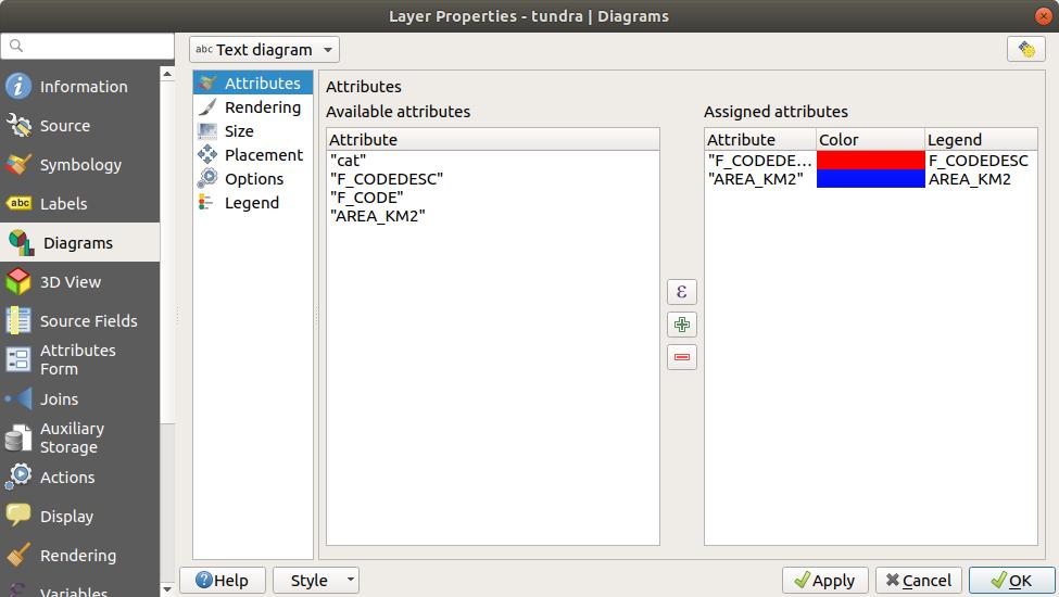 The Vector Properties Dialog